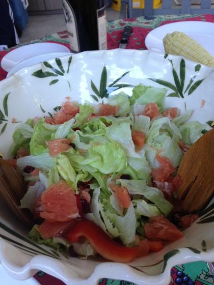 夏らしいサラダ