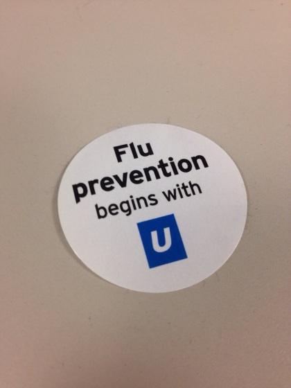 予防接種をすると貰えるシール