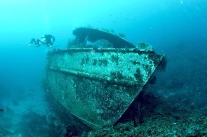 沈船ダイブは面白い